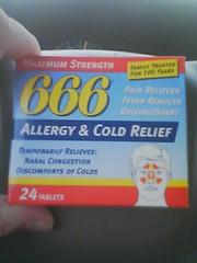 666 Allergy & Cold Medicine () Tags: family cold mom weird george pain bush phone dr cam 666 cell pharmacy doctor satan drug medicine strength years 100 katana sprint med package wacky flu drogas nasal congestion fever allergy meds tablets sprintpcs allergies decongestant sinus remedy pharmaceutical sudafed maximum trusted sinuses reliever drugas pseudophedrine