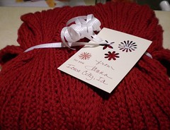 Red Scarf and card