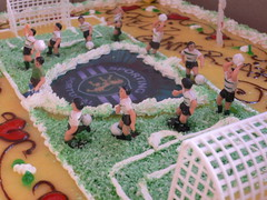 Sporting traning in sugar cream (*TANS*) Tags: birthday aniversario football bolo sporting 1year anniversaire gteau 1an thophile mozak