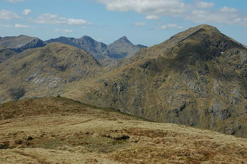 Sgurr na Ciche as seen from Sgurr an Fhuarain