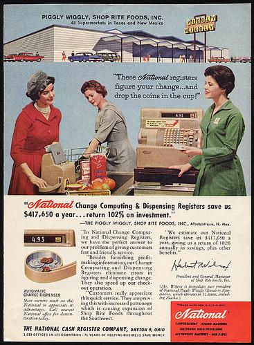 Piggly Wiggly National Cash Register, 1962