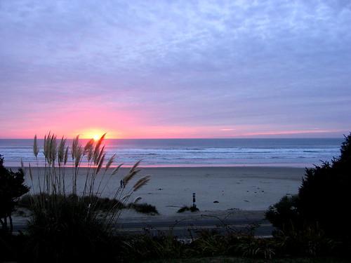 setting sun Neahkanie beach