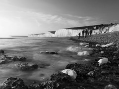 The Cliffs (lowbattery) Tags: sea beach water sisters sussex coast seven eastbourne beachyhead birlinggap