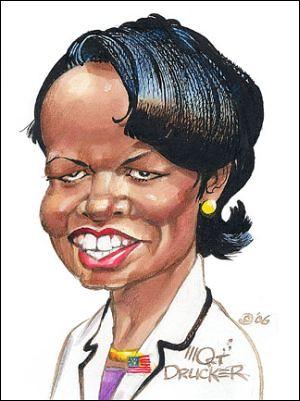 Condoleezza Rice by Mort Drucker