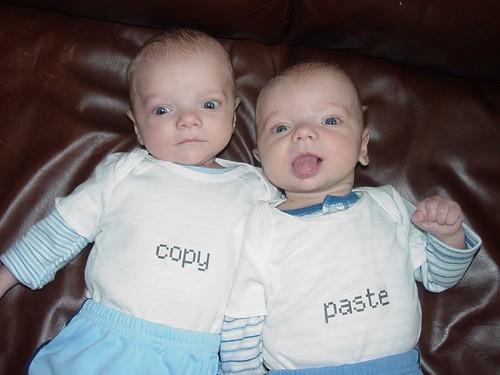 gemelos con copy paste