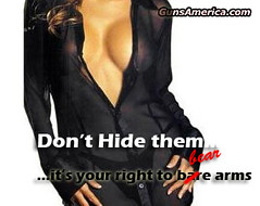 Don't hide your right to bare arms. (gunsamerica1) Tags: gun bare right weapon guns constitution cleavage firearm secondamendment 2ndamendment beararms