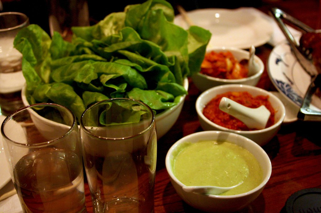 Lettuce and Condiments