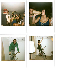 Megan turning 21! (AndyWissman) Tags: birthday wood andy bicycle polaroid happy exercise oz megan andrew liquor 40 mandee malt ounce wissman rippee