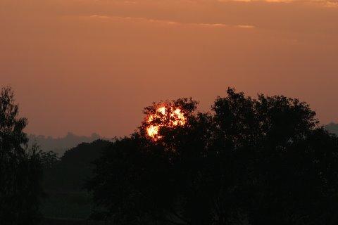 Sunrise over Ramnagaram 021207