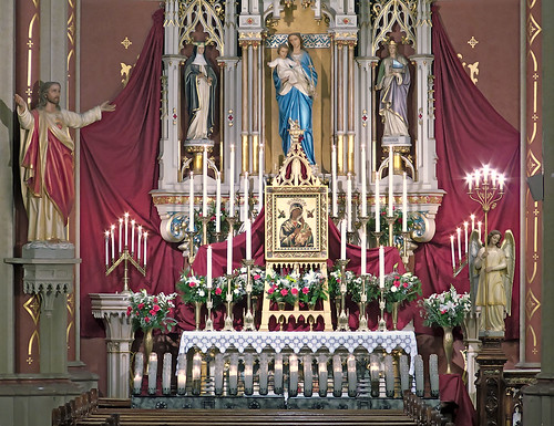 Saint Francis de Sales Oratory, in Saint Louis, Missouri, USA - Mary's altar.jpg