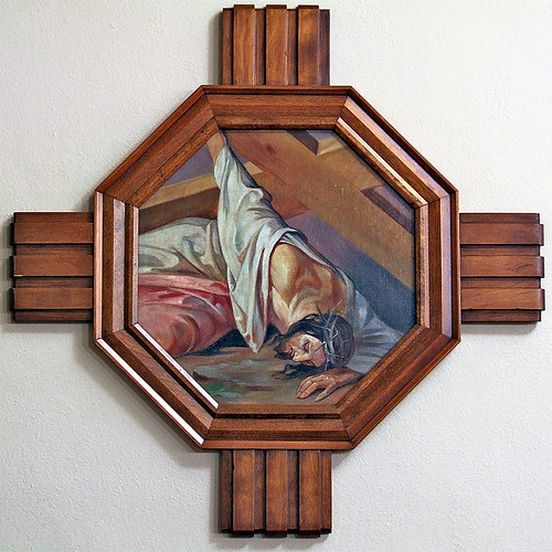 Saint Mary Magdalen Roman Catholic Church, in Saint Louis, Missouri, USA - Station of the Cross.jpg