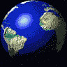 globo terrestre girando - fundo preto