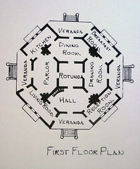 22 First Floor Plan of Longwood - Natchez, Mississippi (sunnybrook100) Tags: mississippi natchez mansion antebellum longwood adamscounty nationaltrustforhistoricpreservation nthp