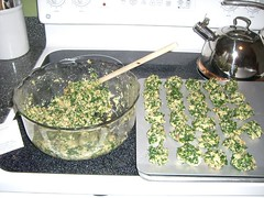 Spinach Balls in the making