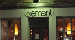 Entrance to Element Bar, Rose Street, Edinburgh