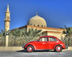 Red Beetle and Mosque (HDR) (Mishari Al-Reshaid Photography) Tags: blue red sky art classic cars vw photoshop canon volkswagen eos automobile beetle bluesky mosque german kuwait autos digitalrebel canoneos hdr classiccars islamic vwbeetle q8 grendizer carphotos carphotography artphoto redbeetle coolcars gtm coolshots carphoto photomatix imagestabilizer 24105mm germancars q80 xti 400d mishari classicbeetle canoneos400d digitalrebelxti canon400d aplusphoto kuwaitphoto kuwaitphotos kuwaitcars kvwc excapture kuwaitartphoto gtmq8 kuwaitvoluntaryworkcenter kuwaitvwc grendizer99 hyperdynamicrange kuwaitphotography grendizer99photos misharialreshaid malreshaid misharyalrasheed