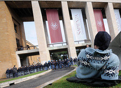 Protests at La Sapienza University in Rome. (photo: Filippo Monteforte/AFP/Getty Images)