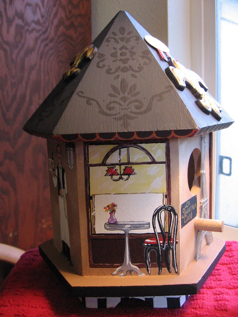 French Bistro birdhouse