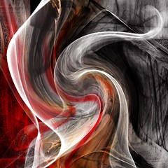 Mixed Media Digital Abstract Art - Untitled (collage a day) Tags: red white abstract black digital mixedmedia digitalart