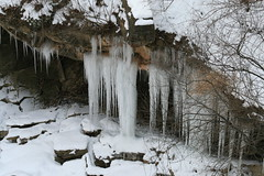 Icicles On Cliff (TheCount88) Tags: park winter ohio cliff snow nature landscape scenery flickr cleveland parks scene cliffs stalagtite icicles brecksville bestnaturetnc07 thecount88 garybydlo