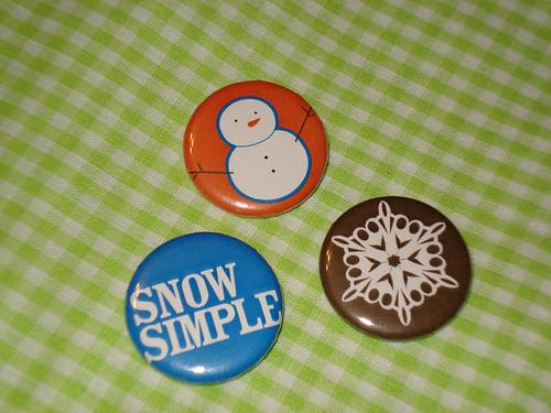 Simple Snowman Buttons