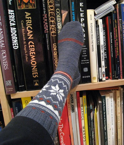 sock to the library