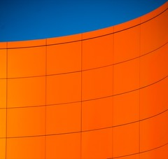 Orange II (Knirsch Knarz (Flo)) Tags: blue orange abstract wall architecture structure blau mauer abstrakt pullach sixt bestminimalshot