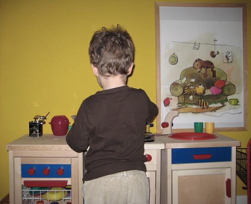 Der BOI in seiner Wohnküche