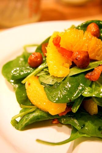 spinach salad, alfreddo 013