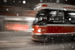 Gerrard East Streetcar (William Self) Tags: winter snow toronto ontario ttc gerrard transit streetcar cbcradio3 rrcex ljex