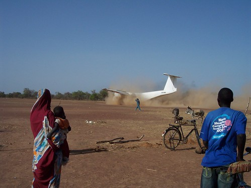 Plane landing in Got Machar