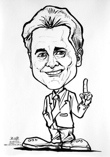 Caricature Jones Lang Lasalle ink