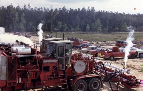 Pumping Liquid Nitrogen Down an Oil Well