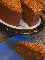 Choco-Toffee Layer Cake III (tonydolor) Tags: cake baking chocolate ganache milkchocolate semisweet joeybiscottiblog chocolatetoffeelayercake