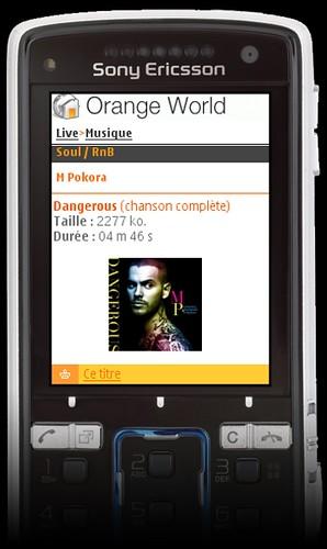orange musique max sur mobile
