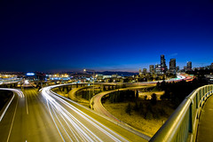 Freeway Nightshot (ttstam) Tags: seattle terence lightroom 40d ttstam photostrollwithamancay