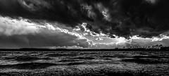 psalm 23 (st.weber71) Tags: sonne wolken wasser sturm nrw niederrhein schwarzweis