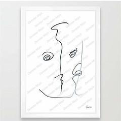 w8 (demetermojis) Tags: black white abstract minimalism portrait love smile mojis emoticons linedrawing