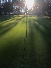 Early Morning Green (Thanks for over 2 million views!!) Tags: chadsparkesphotography centralflorida golfcourse golf kingsridgegolfclub green flag shadows trees golfball clermontflorida clermont florida