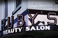 1976 Troy, Ohio (Sautterry) Tags: troy ohio signs rubys hairsalon beauty rubysbeautysalon