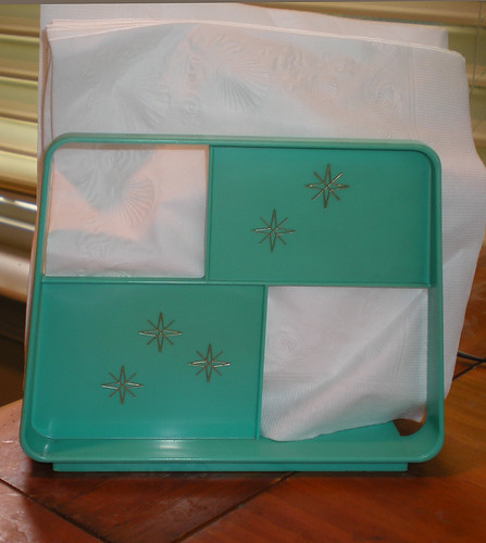 Aqua atomic napkin holder!