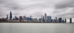 Chicago Skyline in 10 Seconds (Seth Oliver Photographic Art) Tags: chicago clouds buildings iso200 illinois nikon midwest skyscrapers searstower lakes cities cityscapes panoramas lakemichigan lakeshoredrive trumptower driftingclouds southloop congresshotel beautifulclouds pinoy downtownchicago johnhancockbuilding chicagoskyline urbanscapes aonbuilding secondcity cnabuilding longexposures chicagoist d90 10secondexposure lakepointetower bluecrossblueshieldbuilding cityofchicago cityofbigshoulders manualmodeexposure willistower setholiver1 aperturef160 daytimelongexposures 18105mmnikkorlens circularpolarizers ballheadtripodmountedshot timedelaytriggeredshot 10stopndfilters soocexceptforcroptopanomode croppedpanoramashots