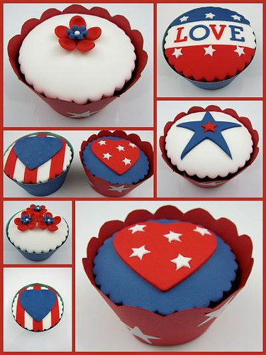 5720671070 0bdfe07d53 USA Memorial Day / American Independence Day Cupcakes