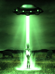 Unexpected Encounter V2 (Jessels) Tags: cows alien ufo spaceship beams abduction libraryhack