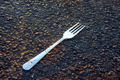 Flattened fork