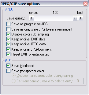 Remember to check the Disable Color Subsampling option in Irfanview