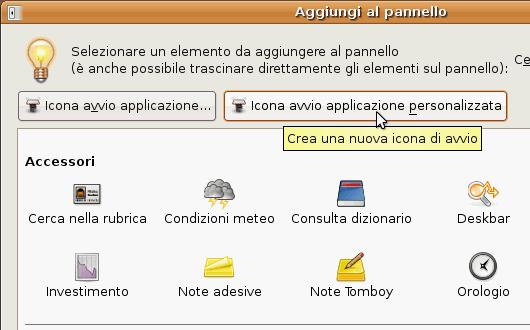 Fig. 28 - Mount script - crea nuova icona sul pannello