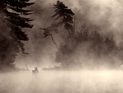 The Land of Ghosts II - landscape nature water canada lake beauty bowers natural outdoor morning ontario canoe