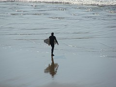 Looking back (easywriterguy) Tags: sanfrancisco beach seaside surfer surfing oceanbeach surfers