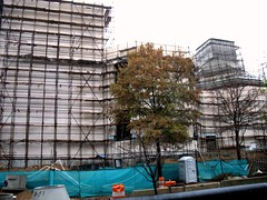a small part of massive Chinese embassy, under construction